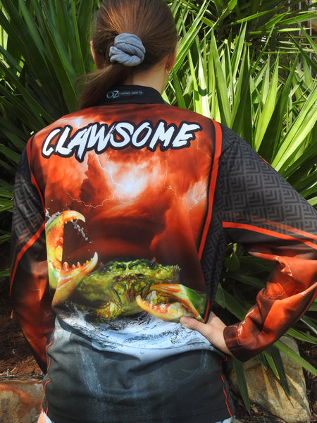 Mudcrab Clawsome   -Fishing shirt -Quick dry - Uv rated