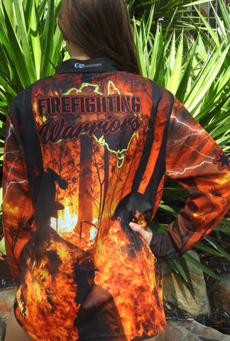 FireFighting Warriors  - Fishing shirt -quick dry - uv rated