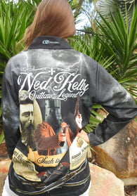 Such is Life Ned Kelly  -Polo Fishing shirt -quick dry - uv rated