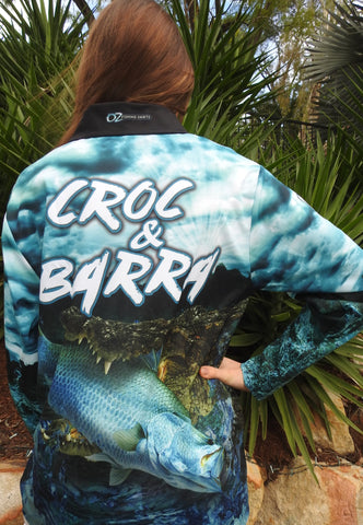Croc & Barra Fishing shirt -quick dry - uv rated
