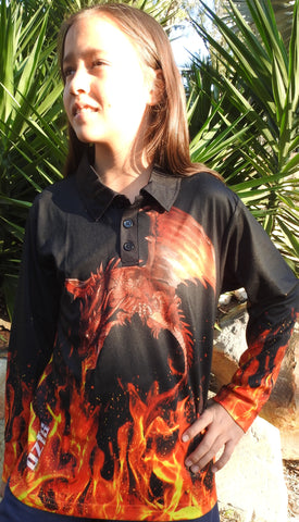 Kids wear Dragon Slayer-Polo shirt -Quick dry - Uv rated