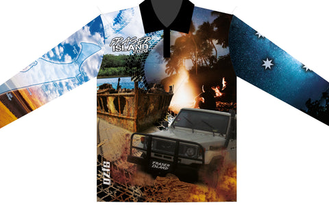 Fraser island Blue 2021 -Fishing shirt -quick dry - uv rated