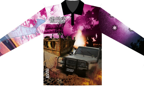 Fraser island pink 2020 -Fishing shirt -quick dry - uv rated