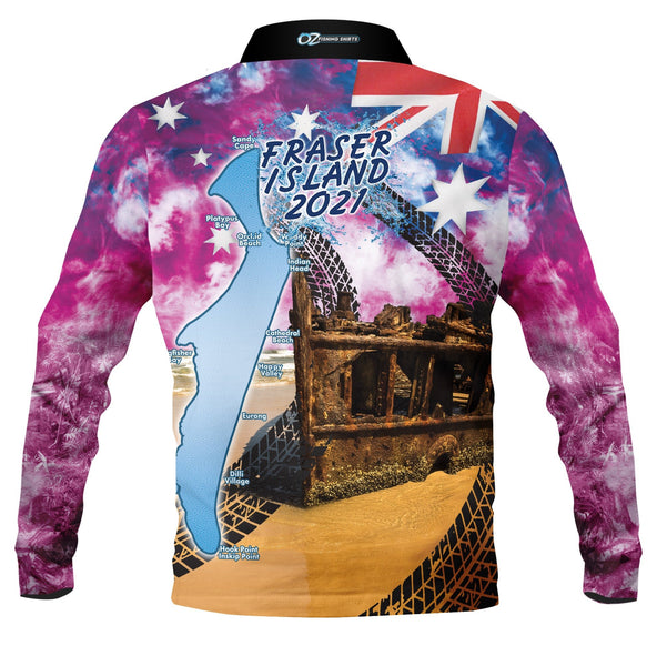 Aussie Frazer Pink 2021 -Fishing shirt -quick dry - uv rated