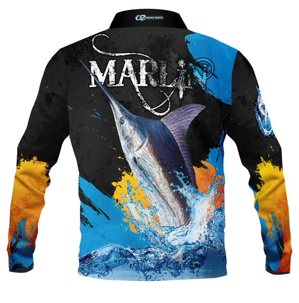 Marlin Black  -Fishing shirt -quick dry - uv rated