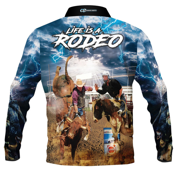 Kids Wear Rodeo Bull Rider -Fishing shirt -quick dry - uv rated
