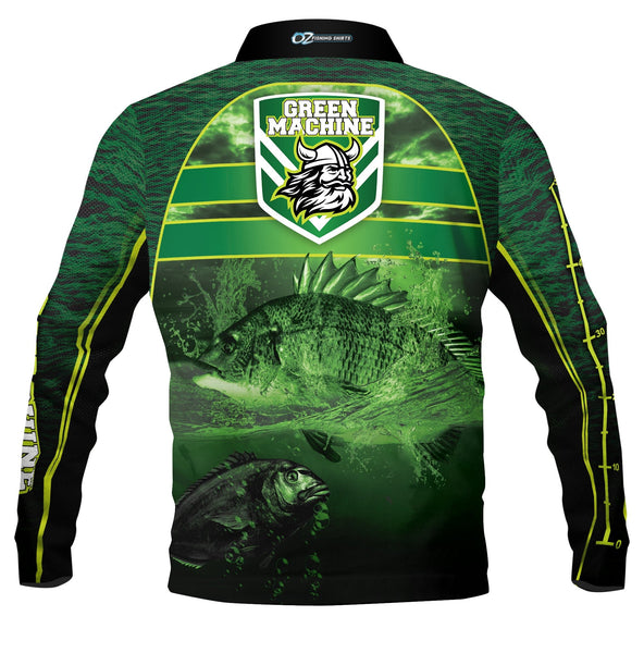 Green Machine Canberra - Polo Fishing shirt - quick dry - UV rated