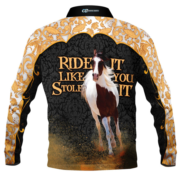 Ride It  Gold  -Fishing shirt -quick dry - uv rated