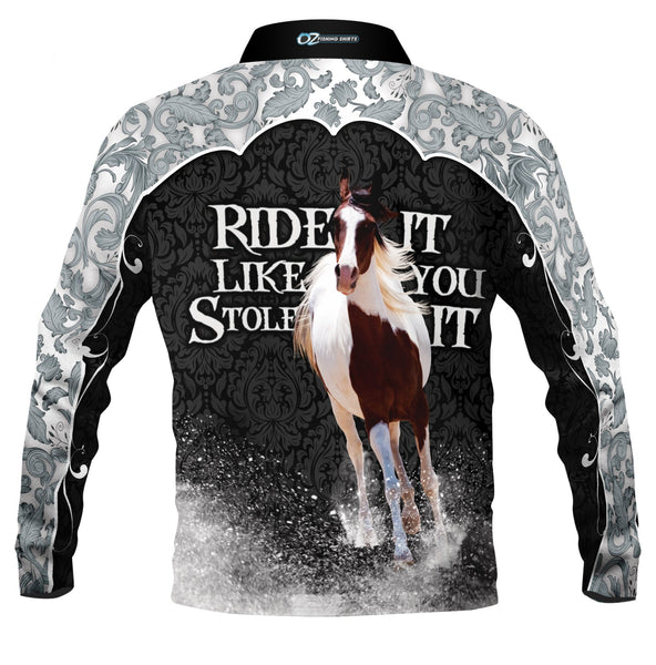 Ride It  Silver -Fishing shirt -quick dry - uv rated