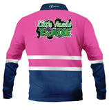 Kids wear Little Aussie tradie Pink -Fishing shirt -Quick dry - Uv rated