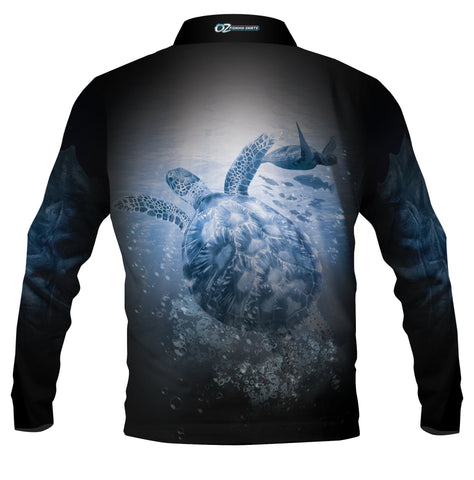 Turtle Black - Fishing shirt - quick dry - UV rated