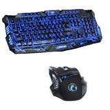 3 Colour LED Pro Gaming Keyboard & Mouse Combo