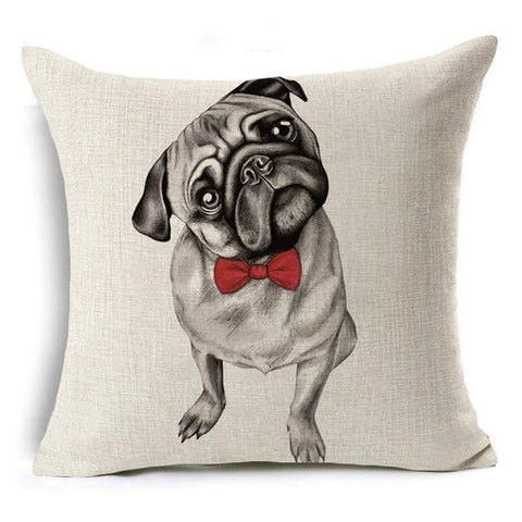 Nordic Animal dachshund cushion cover Dog for children Decorative Cushion Covers for Sofa Pillow Case bull terrier almofadas