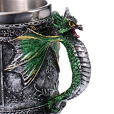 Hand Painted Stainless Steel Mythical Dragon Mug