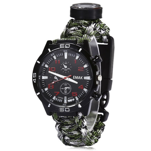 6 in 1 Multi-Function Survival Watch
