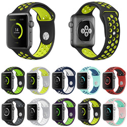Sports Silicone Watch Strap for Apple Watch (38mm & 42mm)