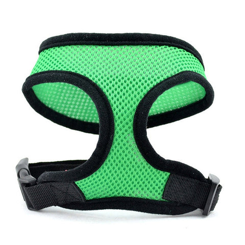 Pet Soft Breathable Air Nylon Mesh Vest Harness Dog Adjustable Breast-band Cat Puppy Lead Halter Chest Strap Traction Products