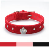 Adjustable Velvet Material Crown Dog Collar