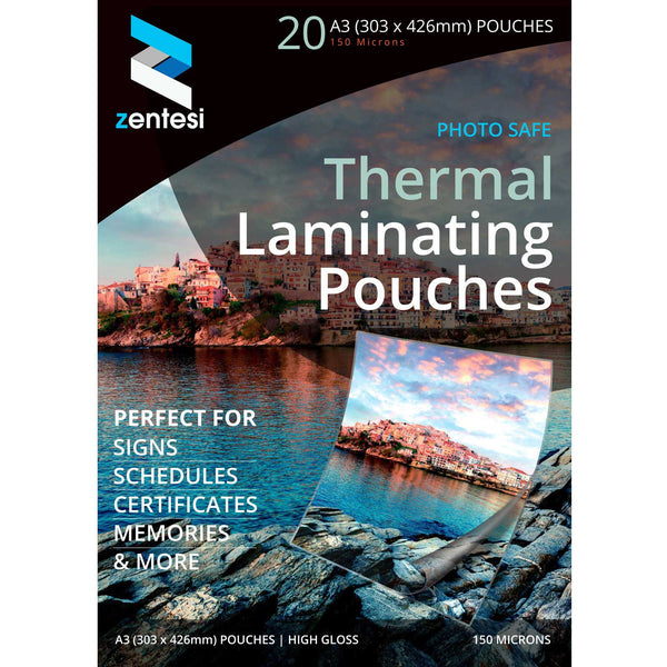 A3 150 micron laminating pouches