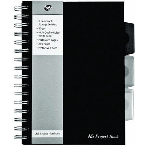 A5 Project Book with Movable Dividers