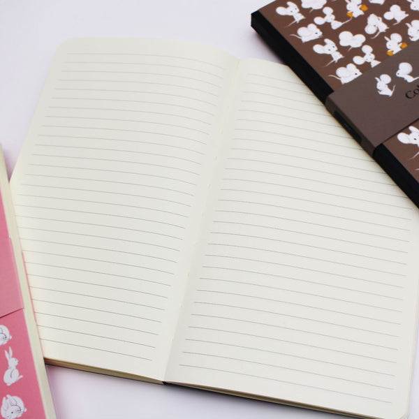 A5 Mia Bunny Rabbit - Pink Slim Notebook