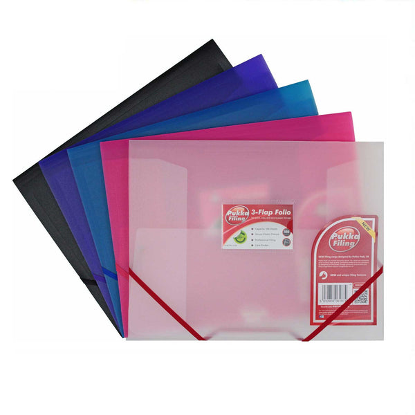 3 Flap Folio Document Wallet Folder