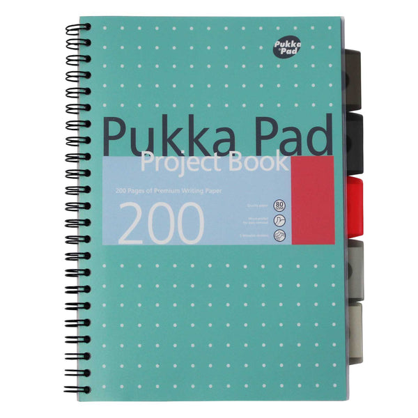 Pukka Pad, A4 Jotta Metallic Project Book with Dividers