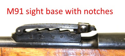 Mosin Nagant M91 rear sight base