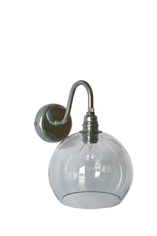 Rowan wall lamp, smokey grey, Ø15cm