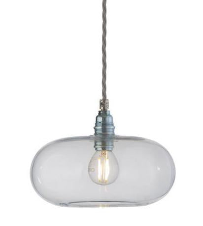 Horizon pendant lamp, Ø21cm, clear with silver