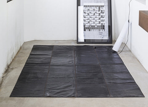 Leather rug kilimas 240x320 cm