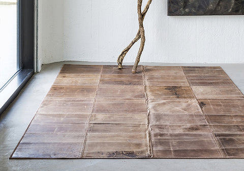Leather rug kilimas 80x240 cm