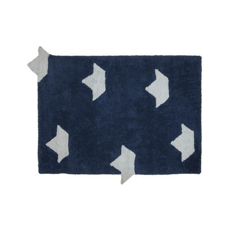 Boats Navy Blue kilimas 120x160