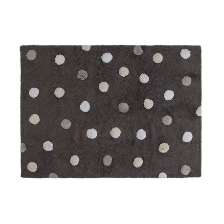 Tricolor Dots Dark Grey-Light Grey kilimas 120x160