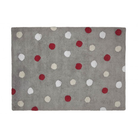 Tricolor Dots Grey-Red kilimas 120x160