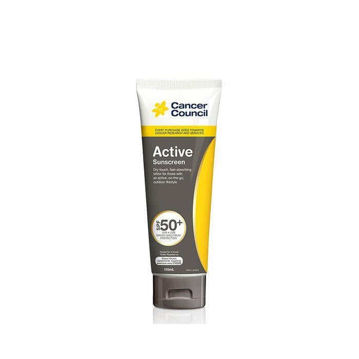 Cancer Council Australia 澳洲防癌協會 Active Dry Touch Sunscreen 無油清爽防曬乳 SPF50+ 110ml