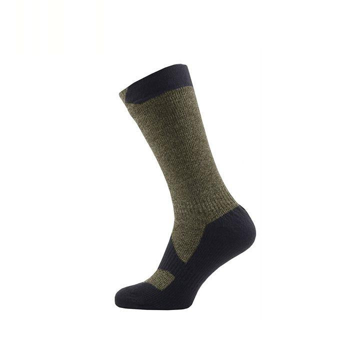 Sealskinz Walking Thin Mid 全天候防水襪 (中筒) (Olive Marl/Charcoal)