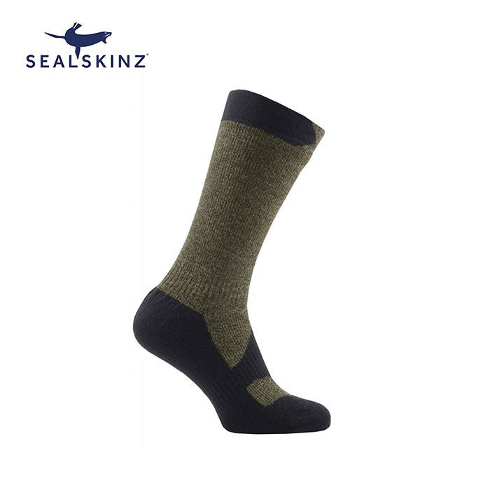 Sealskinz Walking Thin Mid 全天候防水襪 (中筒) (Olive Marl/Charcoal) | Sealskinz Walking Thin Mid (Olive Marl/Charcoal)