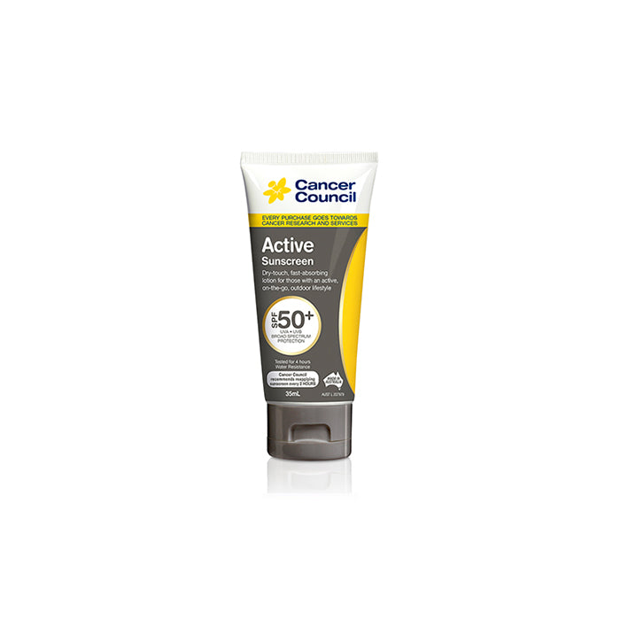 Cancer Council Australia 澳洲防癌協會 Active Dry Touch Sunscreen 無油清爽防曬乳 SPF50+ 35ml | Cancer Council Australia Active Dry Touch Sunscreen SPF50+ 35ml