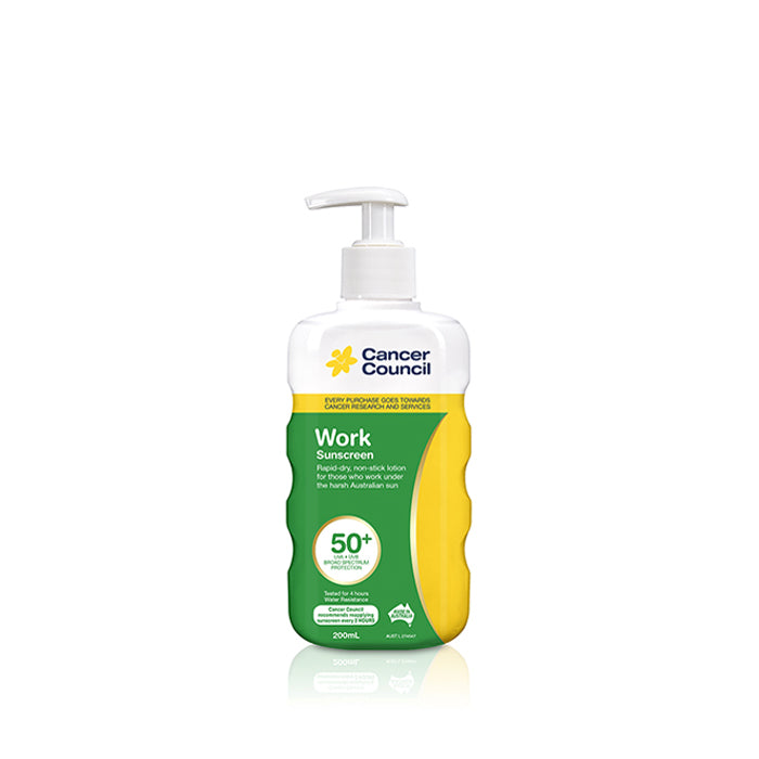 Cancer Council Australia Work Sunscreen SPF50+ 200ml