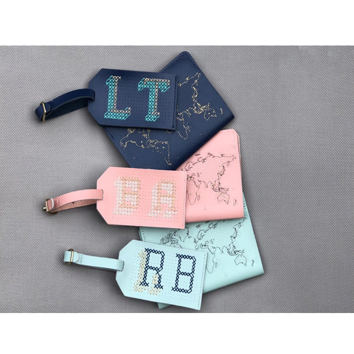 Chasing Threads Stitch Leather Luggage Tags 真皮可繍行李掛牌