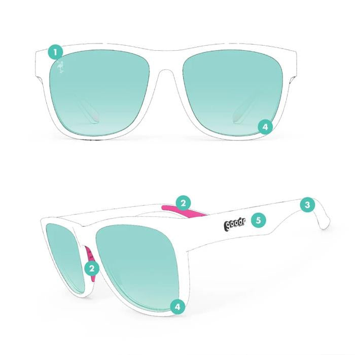 Goodr Sports Sunglasses BFGs - It's All in the Hips 運動跑步太陽眼鏡(加闊鏡框)