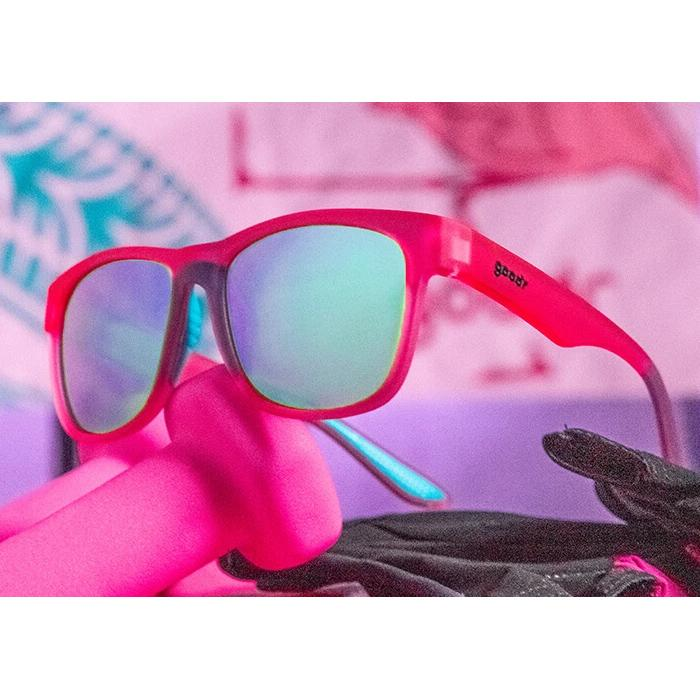 Goodr Sports Sunglasses - Do You Even Pistol, Flamingo?