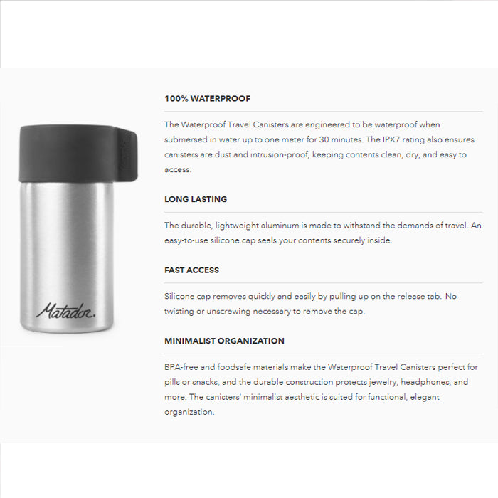 Matador Waterproof Travel Canister 40ml