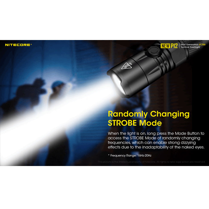 Nitecore NEW P12 1200 Lumens Rechargeable Flashlight 1200流明充電手電筒