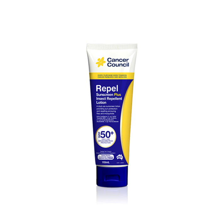 Cancer Council Australia 澳洲防癌協會 Repel Sunscreen 驅蚊蟲防曬乳SPF50+ 110ml