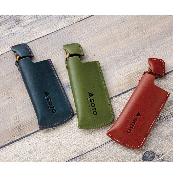 SOTO Leather Case ST-4801 伸縮火機專用防塵皮套 (for SOTO Pocket Torch XT)