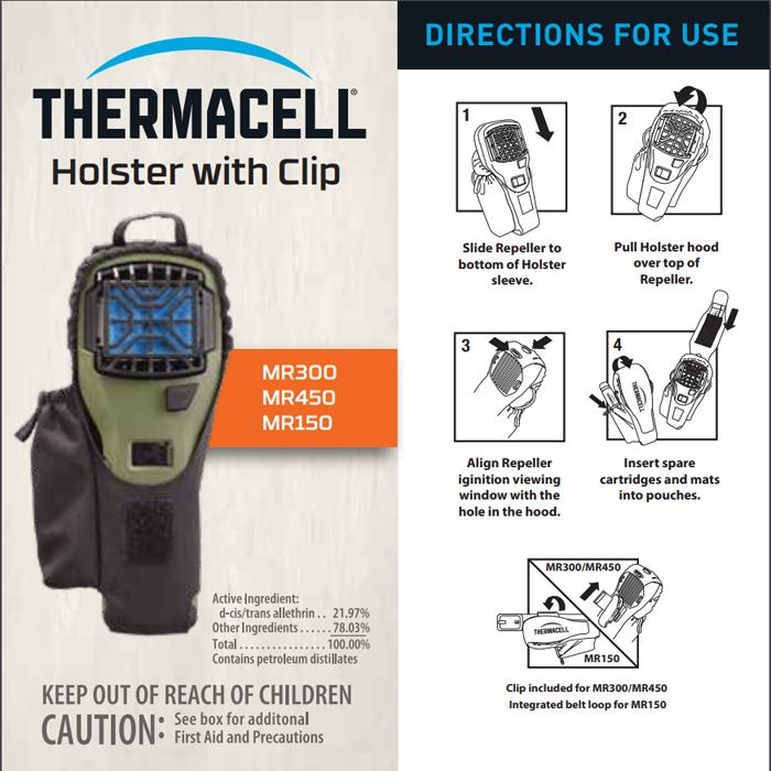 Thermacell Holster with Clip for Portable Repellers 戶外便攜驅蚊機專用防水套