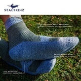 Sealskinz Walking Thin Ankle 全天候防水襪 (中低筒) (Dark Grey/Black) | Sealskinz Walking Thin Ankle (Dark Grey/Black)