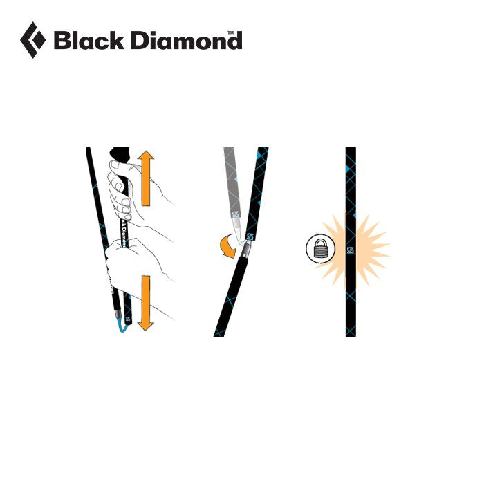 Black Diamond Distance FLZ Trekking Poles Women's 鋁合金輕量行山杖